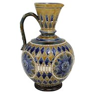 Doulton Lambeth Stoneware Ewer with Salt Glaze