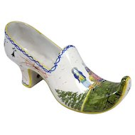 Quimper Polychrome Faience Shoe Planter / Vase