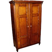 Diminutive 19th Century French Fruitwood Armoire