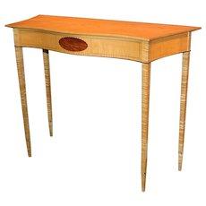 Garrett Hack NH Furniture Master Hepplewhite Style Birdseye & Tiger Maple Console with Inlay