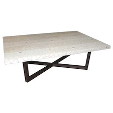 Peter Sandback Modernist Low Rectangle Table in Bleached Ash and Wenge