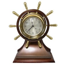 Rare Large Chelsea Yacht Wheel Ship's Bell Clock