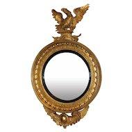 Exceptional Girandole Mirror with Rare Eagle & Serpent Motif