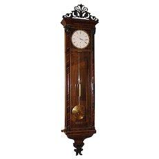 Rare Vienna Regulator Biedermeier Wall Clock by Alois Schenk, Wien circa 1840