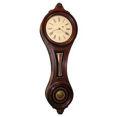 E. Howard & Co. No. 9 Walnut Figure 8 Wall Clock circa 1870's