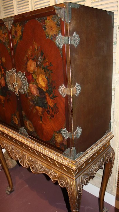 Cabinet On Stand Linen Press By Shaw Furniture Co Cambridge Ma Circa 1930