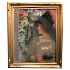 Louise Williams Jackson Pastel Portrait of a Woman in Profile