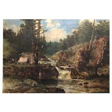 Peter F. Lund Oil Painting Landscape - Lester Park, Duluth, Lake Superior 1896