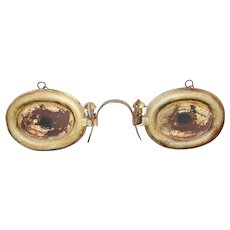19th / 20th c  Optometrist Eyeglass or Spectacle Advertising Trade Sign