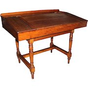 Large 19th Century English Mahogany Two Part Lift Top Standing Desk