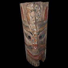 19th c Northwest Coast Native American Carved Totem Panel