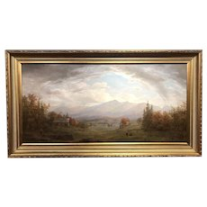 Erik Koeppel Landscape Painting, Mt Lafayette from Sugar Hill, NH
