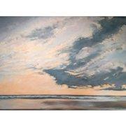 Daryl D. Johnson Oil Painting of a Coastal Scene, Calm Today