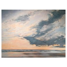 Daryl D. Johnson Oil Painting of a Coastal Scene, Calm Today