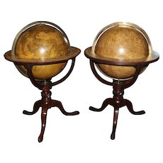 Pair of English Globes, Cary's Terrestrial & Bardin British Celestial circa 1800