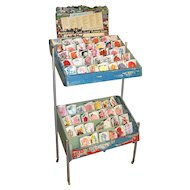 Mandeville Flower Seeds Wooden Advertising Display Rack circa 1965