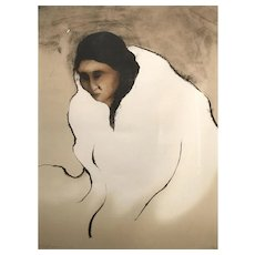 RC Gorman Native American Abstract Signed Ltd Edition Print 1980, 53/150