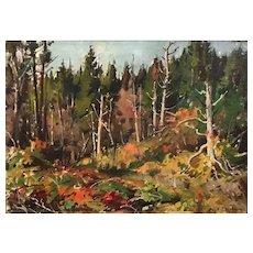 Aldro Thompson Hibbard Impressionist Oil Painting of an Autumn Landscape