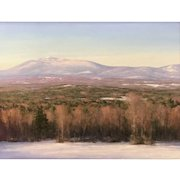 David Dodge Winter Landscape Oil Painting, Monadnock from North Pack