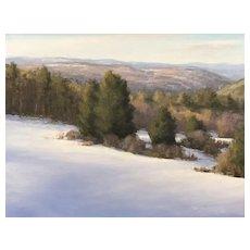 David Dodge Winter Landscape Oil Painting, Peterborough Hills