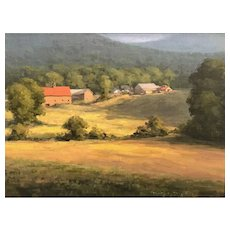 David Dodge Landscape Oil Painting, Mad River Farm NH