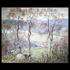George Loftus Noyes Impressionist Landscape Oil Painting, The Valley