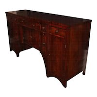 Federal Mahogany Sideboard Fitted with Bottle Drawers
