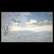 Lowell Birge Harrison Winter Landscape Oil Painting, Snow Bound, Woodstock NY