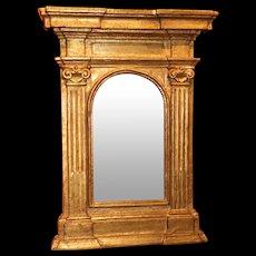 18th Century Italian Giltwood Wall Mirror