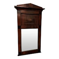 Early 19th c Biedermeier Wall Mirror with Butterfly Inlay