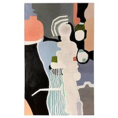 Roz Park Modernist Abstract Oil Painting #1