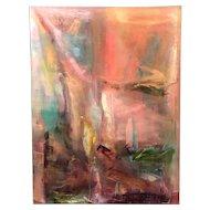 Jan Lhormer Modernist Abstract Oil Painting, Sky Diamonds (Delirium)