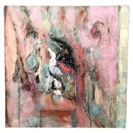 Jan Lhormer Modernist Abstract Oil Painting, Sanctuary / Hideaway