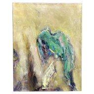 Jan Lhormer Modernist Abstract Oil Painting, Icarus