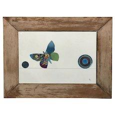 Varujan Boghosian Abstract Watercolor, Butterflies