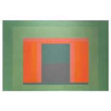 Sewell Sillman Geometric Abstract Oil Painting, March Entry