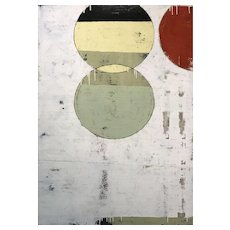 Chris Myott Modernist Abstract Painting, Circles