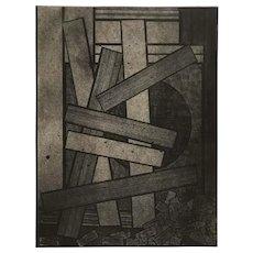 Mavis Pusey Abstract Artist's Proof, Broken Construction at Dusk