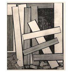 Mavis Pusey Abstract Lithograph, Broken Construction AB