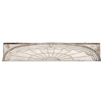 19th Century Federal Painted Wooden Architectural Doorway Fan or Transom