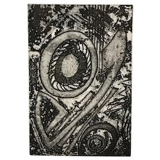 Mavis Pusey Abstract Etching, Artist's Proof, K-P Impulse-3
