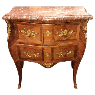 Andre Antoine Lardin French Diminutive Louis XV Marble-Top Commode