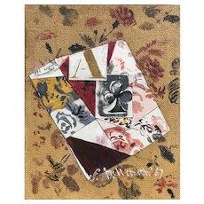 Fannie Hillsmith Abstract Oil Collage, Mustard Still Life