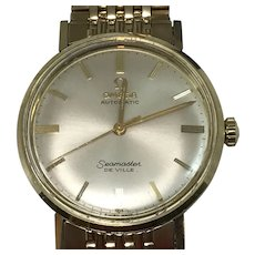 Omega Automatic Seamaster DeVille 14K Yellow Gold Men's Watch