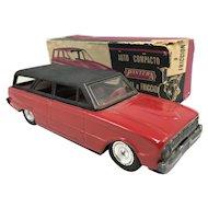 Pantera Argentina Toy Friction Station Wagon Car, Auto Compacto Rural a Friccion