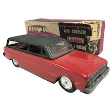 Pantera Argentina Toy Friction Station Wagon Car, Auto Compacto Rural a Friccion