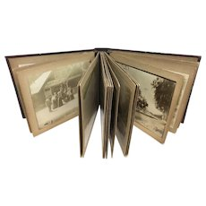 Western US Travel Photo Album with Pikes Peak, Yellowstone, CO & CA, 1899