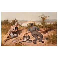 Frederic Remington Sporting Chromolithograph, Goose Hunting