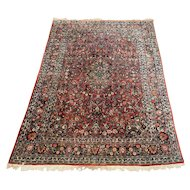 20th c Room Size Kashan Persian Rug or Carpet