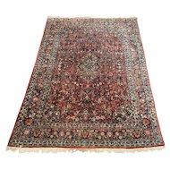 20th c Room Size Kashan Persian Rug or Carpet